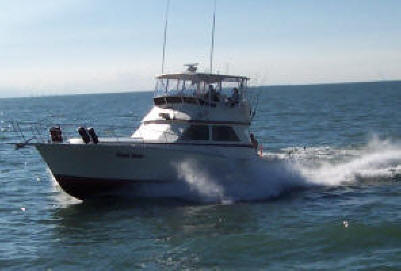"Lake Erie fishing charters aboard the charter boat ""Pooh Bear"""