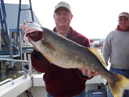 Catch trophy walleye on Lake Erie with Pooh Bear Charters.