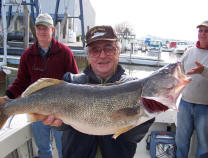 "Catch trophy Lake Erie walleye aboard ""Pooh Bear"""