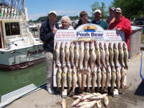 "Catching Lake Erie walleye is fun for all ages on the charter boat ""Pooh Bear"""