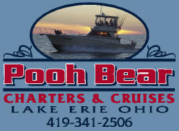"Lake Erie Ohio fishing charters aboard ""Pooh Bear"""